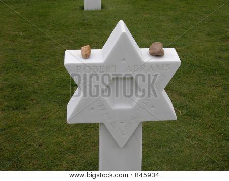 Verdun Grave Marker with Stones
