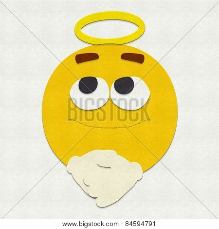 Felt Emoticon Angel