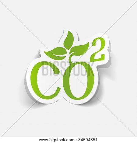 realistic design element. co2 sign dioxide