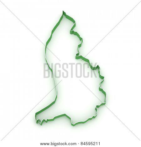 Map of Liechtenstein. 3d