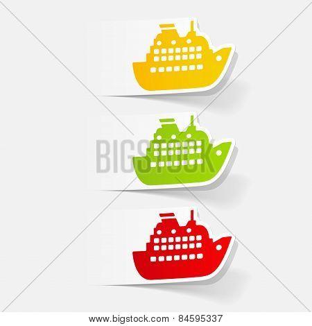 realistic design element.ocean  liner