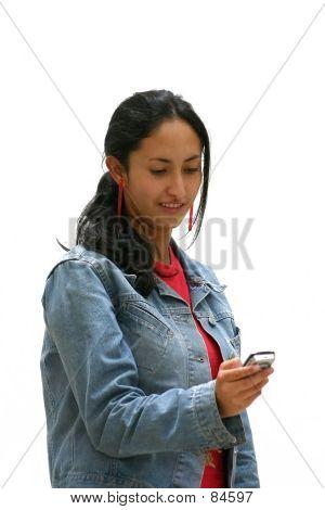 Teenager Sending An Sms
