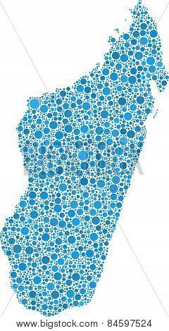 Isolated map of Madagascar