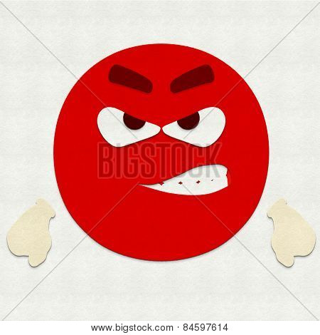 Felt Emoticon Angry