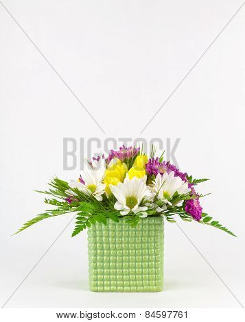 Flower Arrangement With Copy Space