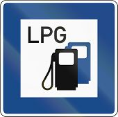 pic of petroleum  - German traffic sign - JPG