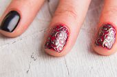 Постер, плакат: Beautiful manicure nails