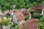 picture of naturel  - Rooftops of Saint Circ Lapopie in France - JPG