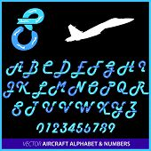 picture of aerobatics  - Aerobatics in an airplane alphabet letters and numbers - JPG