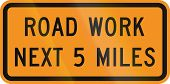 picture of mile  - US traffic warning sign - JPG