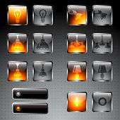 picture of chandelier  - Icons set - JPG