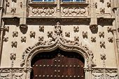 stock photo of baeza  - Doorway and decorative detail of the Jabalquinto Palace  - JPG