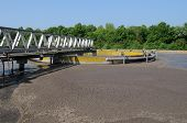 stock photo of wastewater  - domestic wastewater treatment in ile de france - JPG