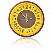 image of midnight  - The vintage clock shortly before midnight - JPG