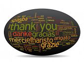 foto of appreciation  - Concept or conceptual abstract thank you word cloud in different languages or multilingual for education or thanksgiving day - JPG