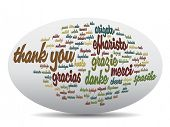 pic of appreciation  - Concept or conceptual abstract thank you word cloud in different languages or multilingual for education or thanksgiving day - JPG