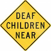 stock photo of deaf  - US warning traffic sign - JPG