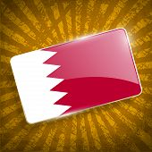 image of bahrain  - Flag of Bahrain with old texture - JPG