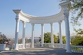picture of sevastopol  - Rotunda in the park on the waterfront of the Sevastopol Bay - JPG