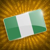 image of nigeria  - Flag of Nigeria with old texture - JPG