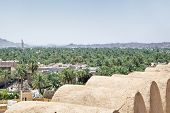 image of oman  - View from the fort to the town Nizwa Oman - JPG