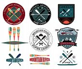 picture of boy scouts  - Set of  vintage expedition labels  - JPG