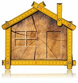 stock photo of tree house  - Wooden house project concept - JPG