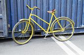pic of bicycle gear  - City bicycle fixed gear and concrete wall - JPG