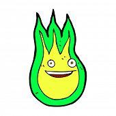 pic of fireball  - retro comic book style cartoon friendly fireball - JPG