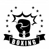 stock photo of knockout  - boxing sport design - JPG