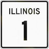 picture of illinois  - United States Illinois State Highway shield 1 - JPG