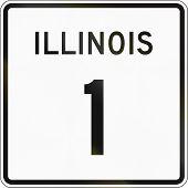 image of illinois  - United States Illinois State Highway shield 1 - JPG