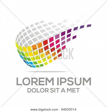 Abstract logo business development vector