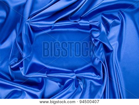 Silk cloth with folds frame shape.