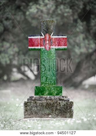 Gravestone In The Cemetery - Kenya