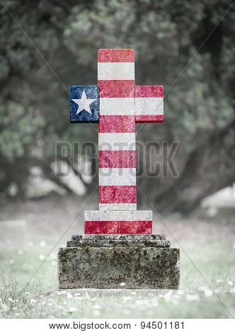Gravestone In The Cemetery - Liberia
