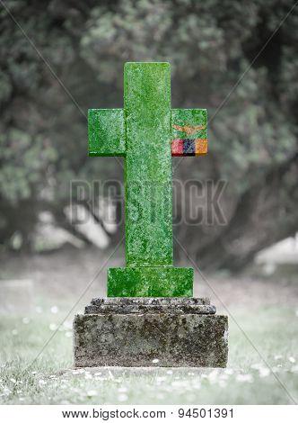 Gravestone In The Cemetery - Zambia
