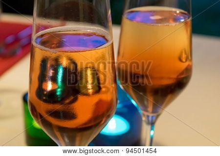 Champagne classes in vibrant colours