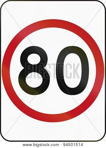 Speed Limit 80 In Australia