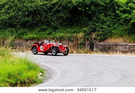 old car MG TB 1939 mille miglia 2015