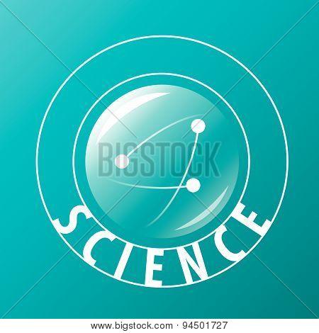 Vector Logo Atoms Fly In Sphere