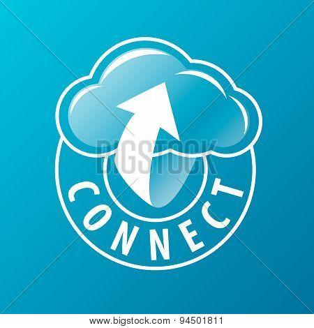 Vector Logo Connectivity Cloud And Arrow