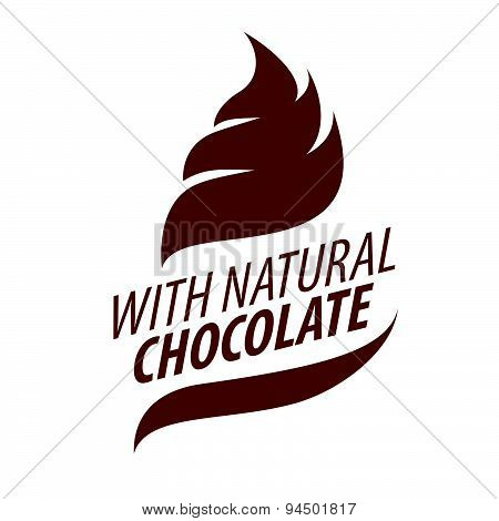 Vector Logo Cream With Natural Chocolate