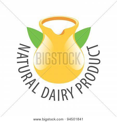 Vector Logo Earthenware Jug With Milk