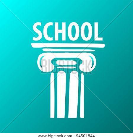 Vector Logo Education Ancient Column
