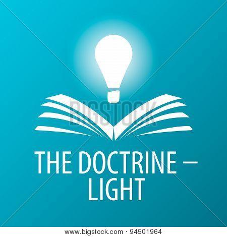 Vector Logo Lamp Illuminates Book