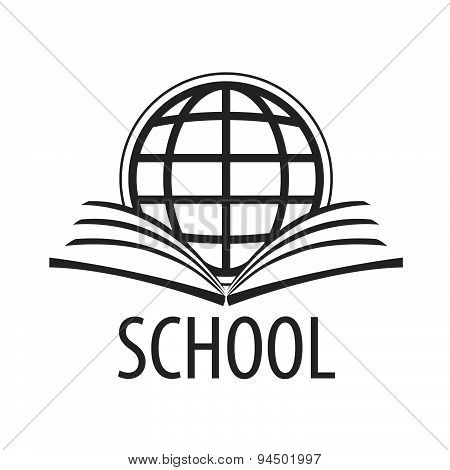 Vector Logo Open Book And Globe