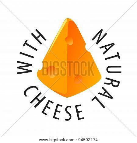Vector Logo Triangular Slice Of Cheese