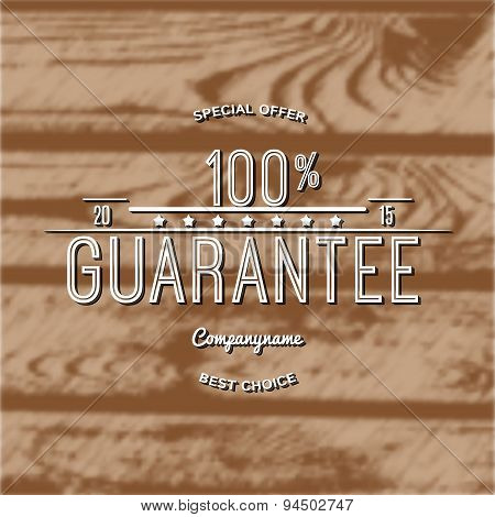 One hundred percent guarantee badges logos and labels for any use