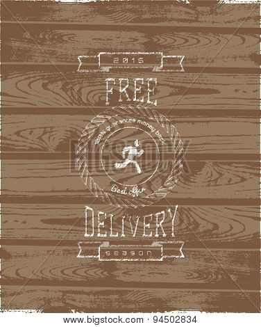 Free delivery badges logos and labels for any use